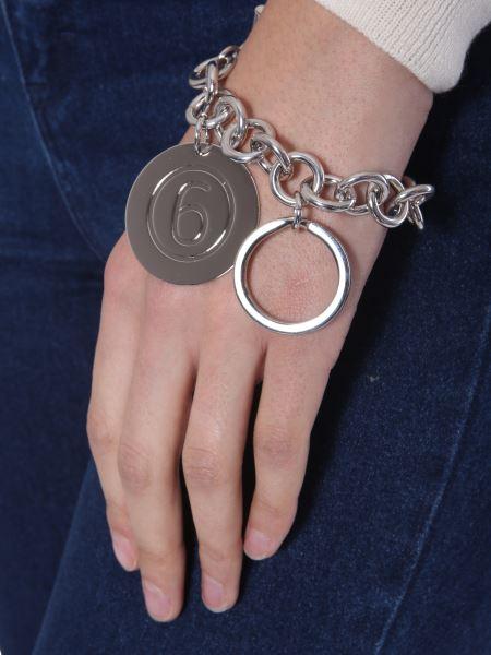 Mm6 Maison Margiela - Brass Bracelet In Brass And Steel