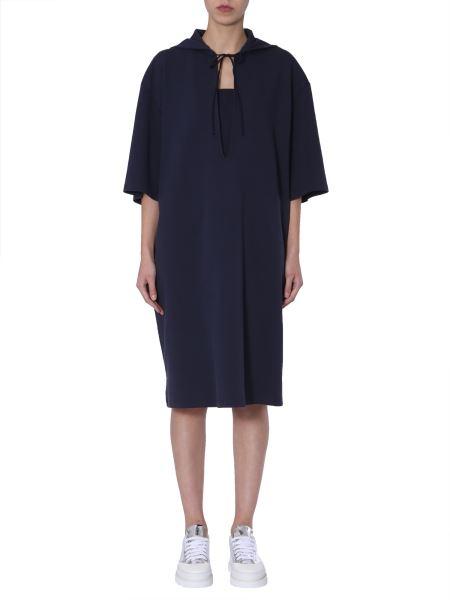 Mm6 Maison Margiela - Cotton Mixed Oversize Fit Dress