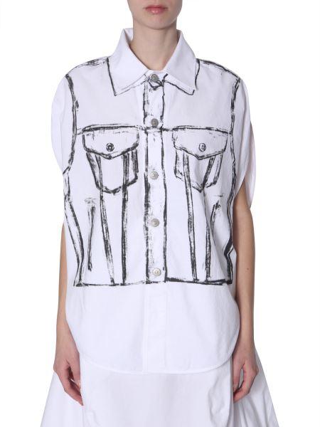 Mm6 Maison Margiela - Printed Sleevless Shirt