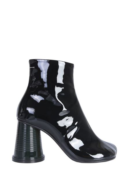 Mm6 Maison Margiela - Patent Leather Ankle Boots With Tumbler Heels