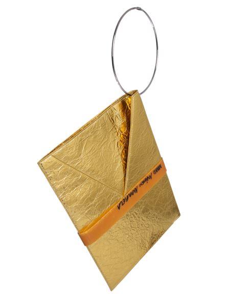 Mm6 Maison Margiela - Laminated Leather Bag With Wrist Bracelet