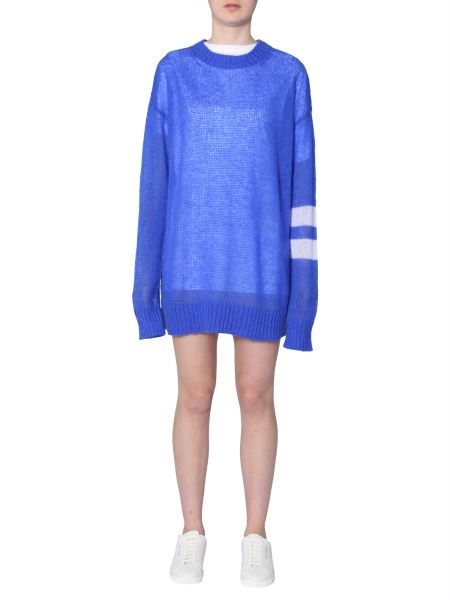 Maison Margiela - Oversize Fit Crew Neck Sweater In Mohair