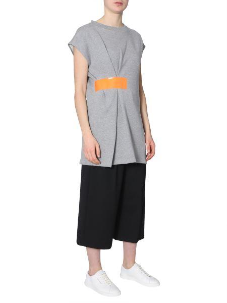 Maison Margiela - Cotton Fleece Dress With Contrasting Band