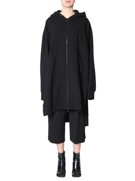 Mm6 Maison Margiela - Hooded Long Sweatshirt With Zip