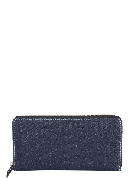 Comme Des Garcons Wallet - Cotton Denim Zip Around Wallet