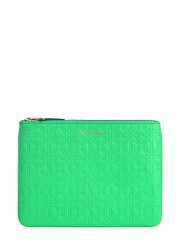 COMME DES GARCONS WALLET - POUCH CON STAMPA