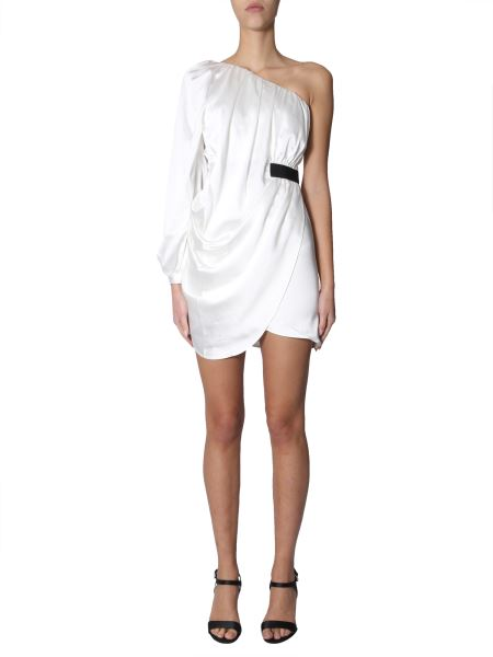 Self-portrait - Short Monkey Dress In Satin With Draping
