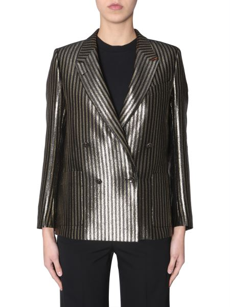 Ps By Paul Smith - Double Breasted Jacket In Lurex Lines