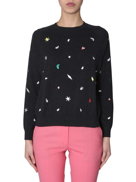 Ps By Paul Smith - Crew Neck Sweater With Embroidery