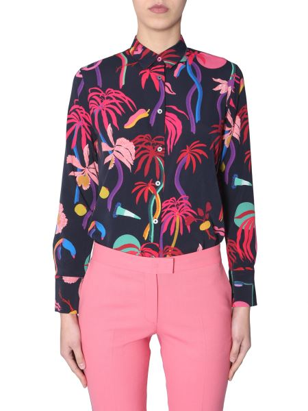 Ps By Paul Smith - Classic Shirt With Urban Jungle Print