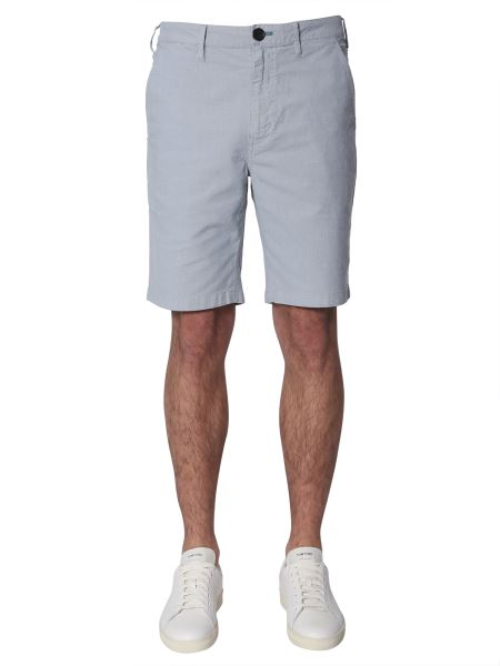 Ps By Paul Smith - Mixed Cotton Shorts With Micro Motif