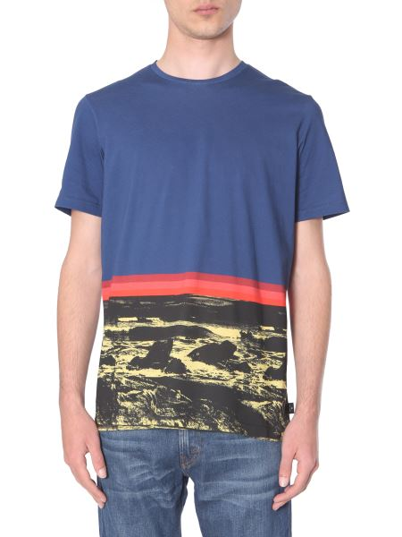 "Ps By Paul Smith - ""landscape"" Regular Fit Cotton T-shirt"