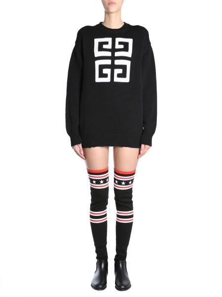 Givenchy - Cotton Sweater With 4g Logo