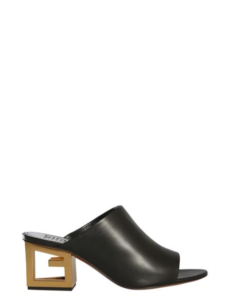 Givenchy - Triangle Leather Mules