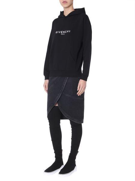 Givenchy - Cotton Hooded Sweatshirt With Text