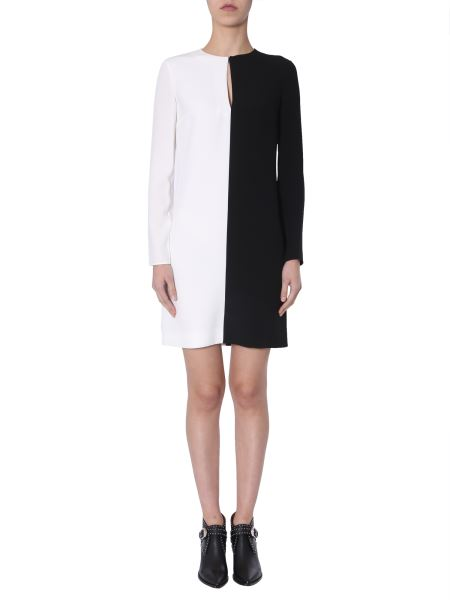Givenchy - Long Sleeved Bicolour Dress