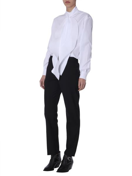 Givenchy - Cotton Poplin Shirt With A Plissé Scarf Collar
