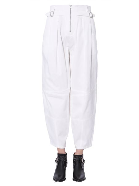 Givenchy - High Waist Trousers With Buckles