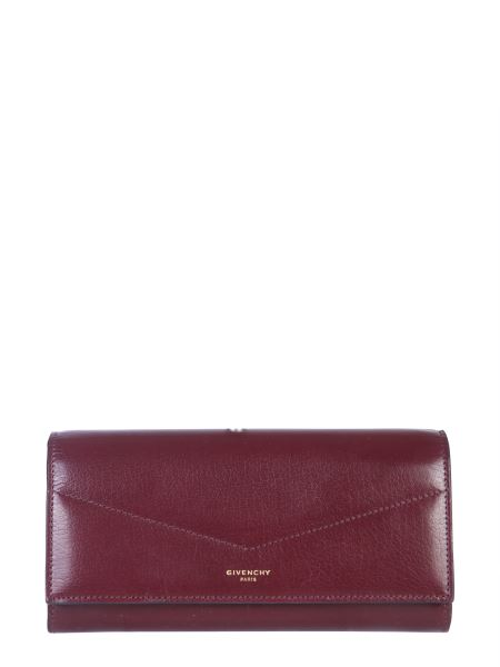 Givenchy - Long Edge Leather Wallet With Pattern