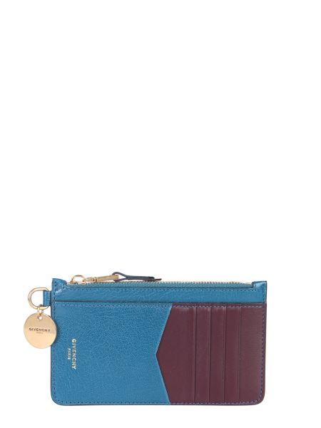 Givenchy - Two-tone Leather Card Holder With Zip