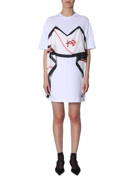Msgm - Short Sleeve Cotton Dress