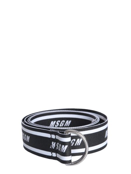 Msgm - Belt In Webbing With Contrasting Logo