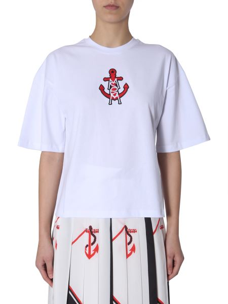 Msgm - Embroidered Cotton T-shirt