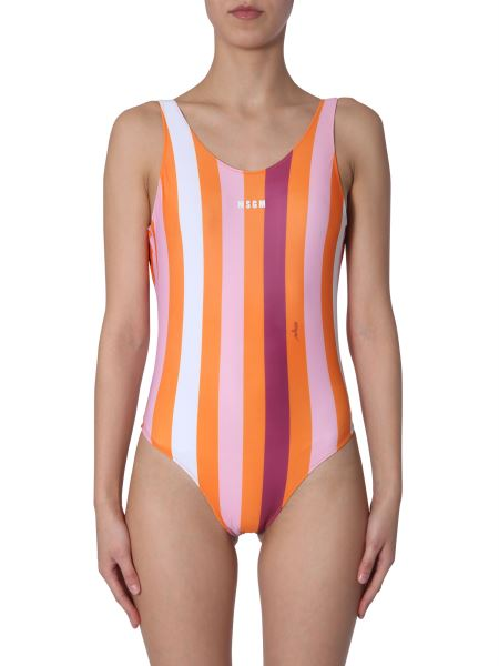 Msgm - Striped Swimsuit