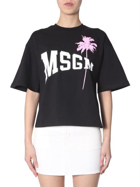 Msgm - Wow Print Cotton T-shirt