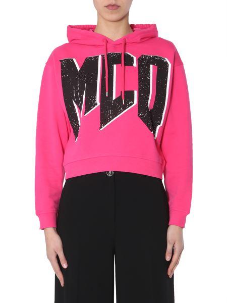 Mcq Alexander Mcqueen - Cotton Sweatshirt With Hood And Logo Print
