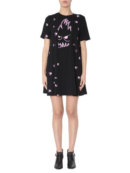 Mcq Alexander Mcqueen - Cotton Jersey Dress With Swallow Print