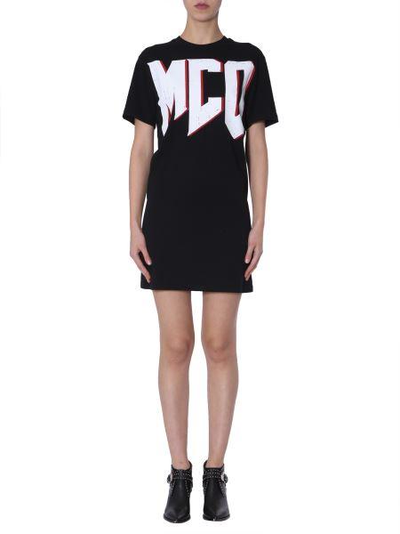Mcq Alexander Mcqueen - Cotton Jersey Dress With Logo Print