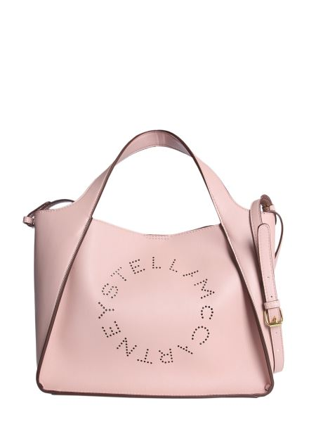 Stella Mccartney - Leather Shoulder Bag With Perforated Logo