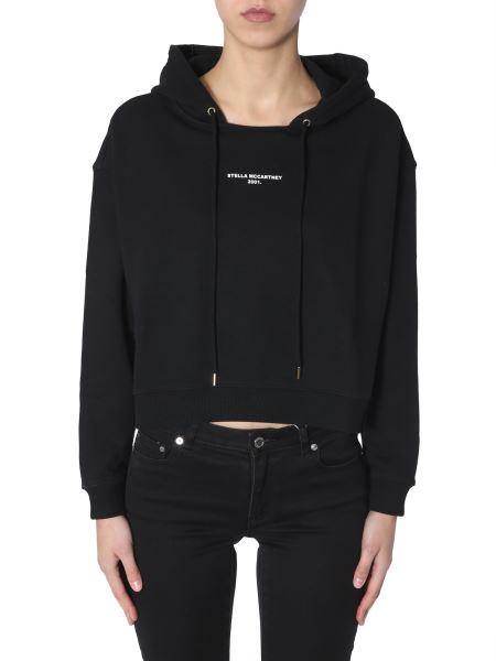 Stella Mccartney - Cotton Hooded Sweatshirt With Logo