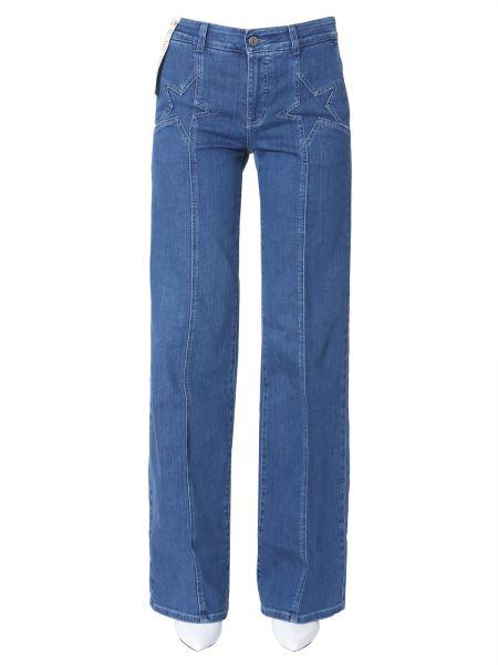 Stella Mccartney - Jeans A Palazzo In Denim Strech Con Dettaglio Stella