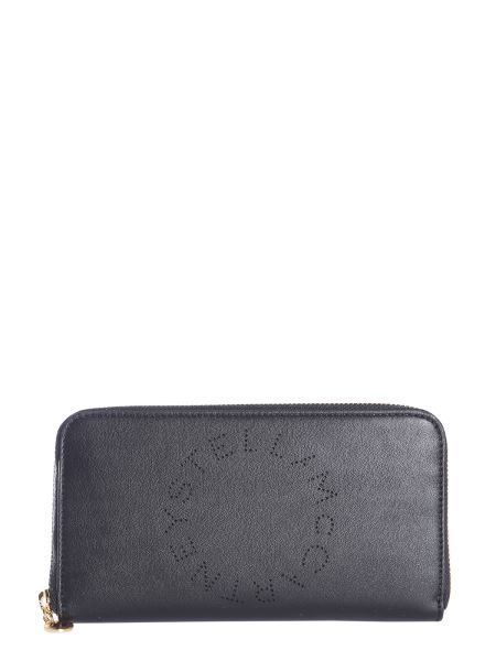 Stella Mccartney - Zip Around Wallet In Alter-nappa With Logo