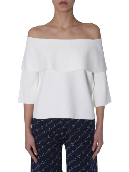 Stella Mccartney - Compact Knit Top With Open Shoulders