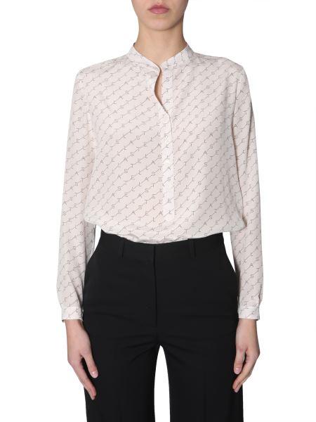 "Stella Mccartney - ""eva"" Silk Shirt With Monogram Print"