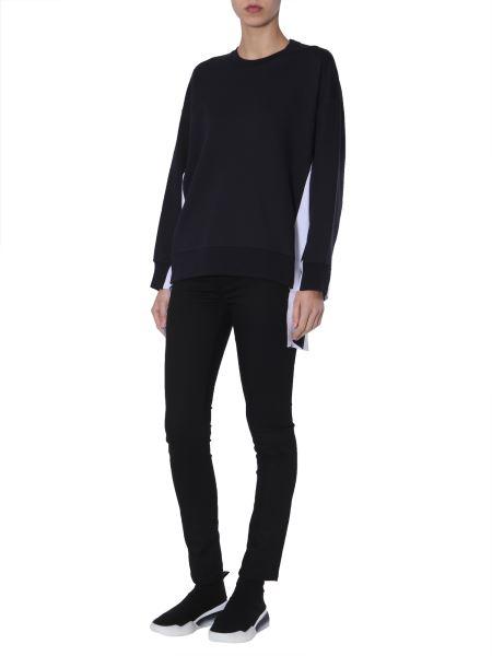 Stella Mccartney - Cotton Mixed Sweatshirt With Logo Inserts