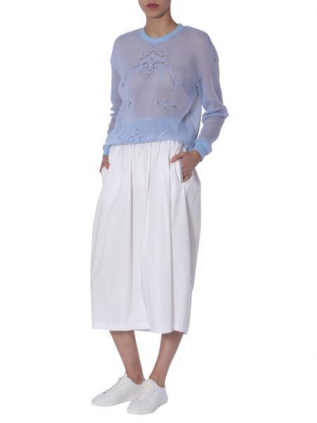 Stella Mccartney - Transparent Sweatshirt With Embroidery