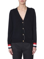 THOM BROWNE - CARDIGAN IN LANA MERINO