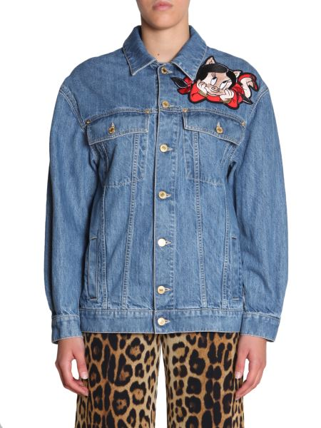 Moschino - Denim Jacket With Porky Pig Embroidery