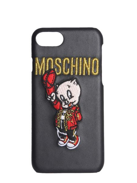 Moschino - Cover For Iphone 8 With Embroidered Porky Pig