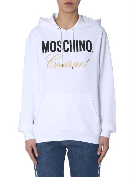 Moschino - Cotton Hooded Sweatshirt With Logo