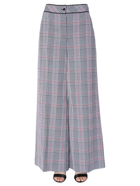 Boutique Moschino - High Waist Trousers In The Prince Of Wales