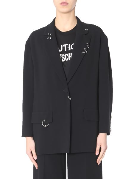 Boutique Moschino - Single-breasted Crêpe Jacket With Piercings