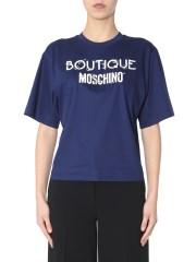 BOUTIQUE MOSCHINO - T-SHIRT GIROCOLLO