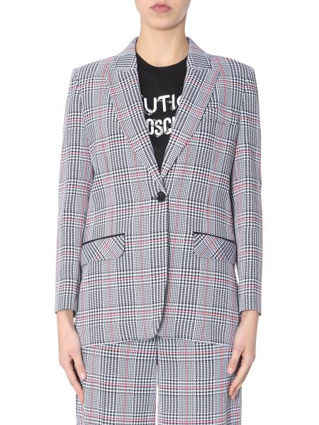 Boutique Moschino - Single-breasted Jacket In Prince Of Galles