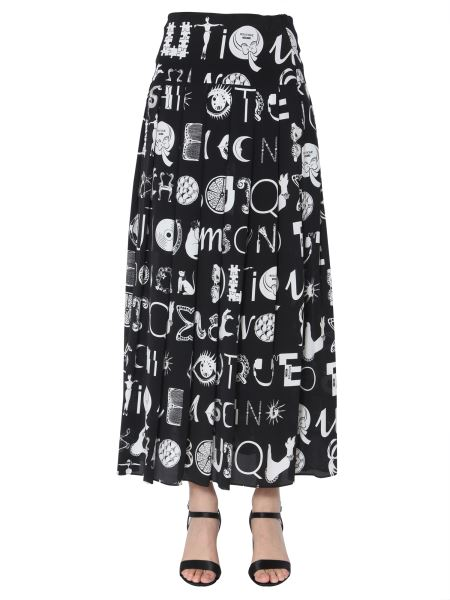 Boutique Moschino - Long Skirt In Printed Silk Blend
