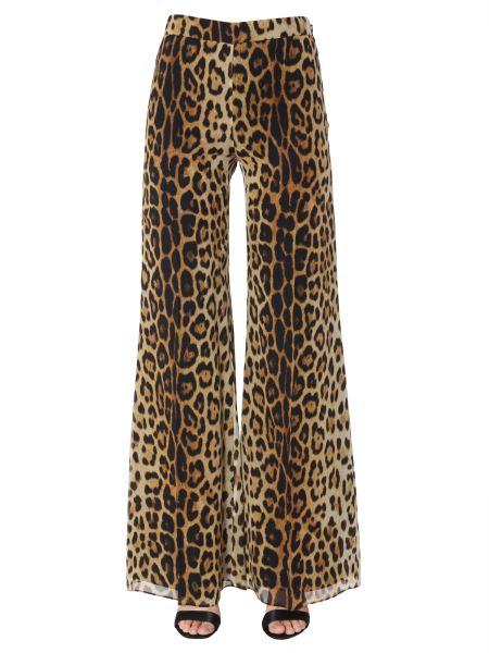 Moschino - Pantalone In Seta Con Stampa Leopardata